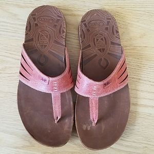 Chaco Leather Flip Flops